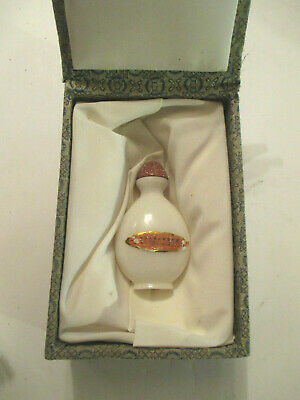 """Antique/ Vintage Asian / Chinese Carved White Jade Snuff (2""""1/2X1""""1/2) Bottle"""