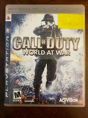 Call of Duty: World at War (Sony PlayStation 3, 2008) Compete Game Free Shipping