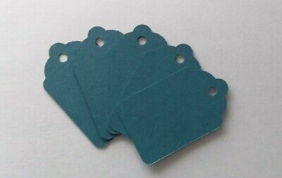 100 Blue Unstrung Tickets 48Mm X 30Mm Tagging Gun Price Tags Blank Craft Labels