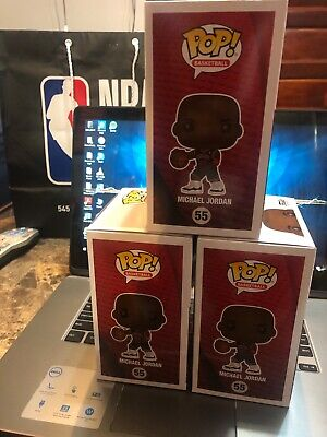 (3) Funko POP NBA  Chicago Bulls Michael Jordan Fanatics Exclusive Preorder #55