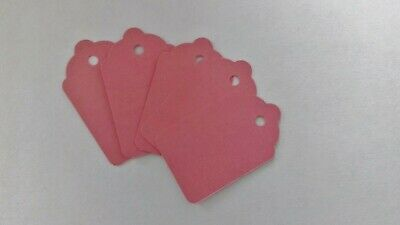 100 Pink Unstrung Tickets 48Mm X 30Mm Tagging Gun Price Tags Blank Craft Labels