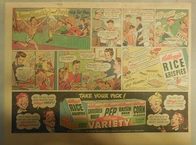 Kellogg's Cereal Ad: Rice Krispies and Running Track! 1940's Size:11 x 15 inches