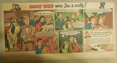 Vaseline Hair Tonic Ad: Doggy Date Wins Joe a Mate ! from 1940's-50's