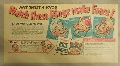 Kellogg's Cereal Ad: Snap, Crackle, Pop Rings Premium!  7.5  x 15 inches