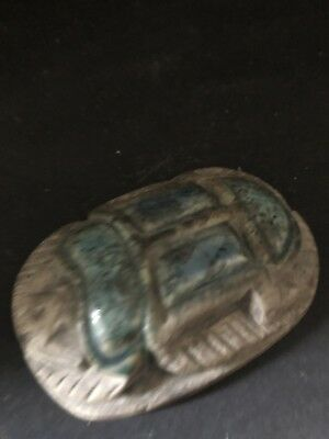 Rare Ancient Egyptian Scarab Pendant 26th DYN 680 BC