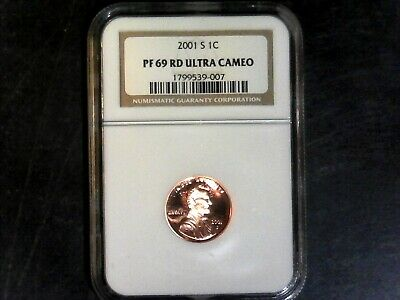 2001-S Ngc Pf 69 Rd Ultra Cameo United States Lincoln Memorial Cent,  Proof Cent