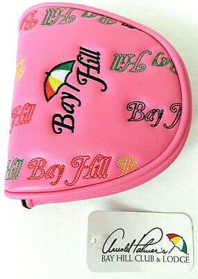 Arnold Palmer's Bay Hill Golf Club & Lodge Putter Headcover Embroidered Pink Nwt