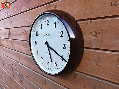 Vintage Retro Smiths Wall Clock, Bakelite. Updated & Restored! Lovely Condition