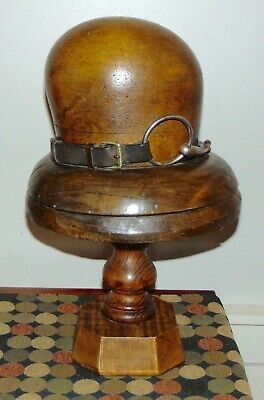 FABULOUS ANTIQUE 1920'S Wooden HAT MOLD Stand