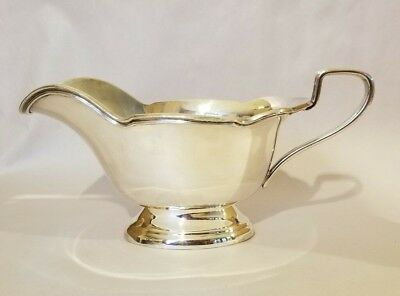 Vintage L B S Silverplate Gravy Sauce Boat Lawrence B Smith Co c1930s