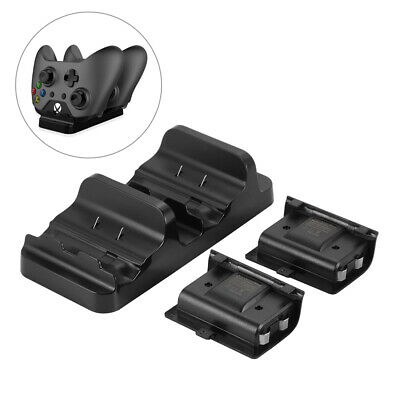 Dual Charging Dock Station+2pcs Battery for XBOX ONE S Wireless Controller AC961