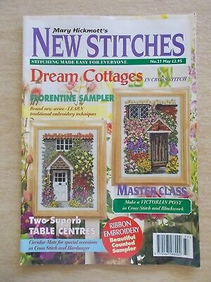 Mary Hickmott's New Stitches #37~Cross Stitch & Embroidery Patterns~1996