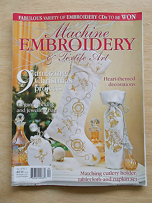 Machine Embroidery & Textile Art Vol 14 #1~Xmas~Angel~Sack~Tree Skirt~Cape~Quilt