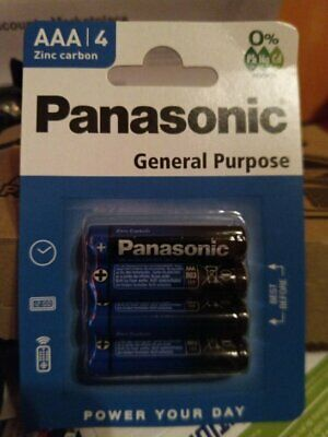 Lot de 48 piles (12 blisters) Panasonic General R03 AAA (LR03) / 02/2022