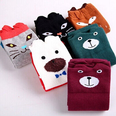 Cute Cartoon Cotton Baby Kids Girls Toddlers Knee High Socks Tights Leg Warmer