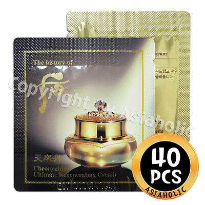 The history of Whoo Cheonyuldan Ultimate Regenerating Cream 1ml x 40pcs (40ml)