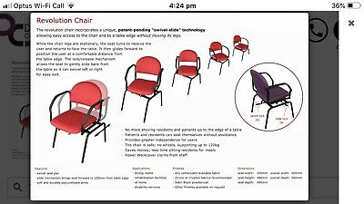 Adjustable Chair Aged and Disability Care Dynamic Revolutionary