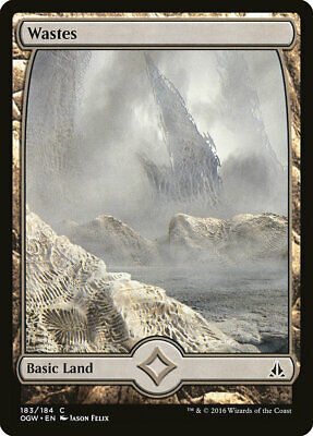 MTG - Wastes (183-Full Art) - Oath of the Gatewatch - X4 - (LP) - FREE SHIPPING