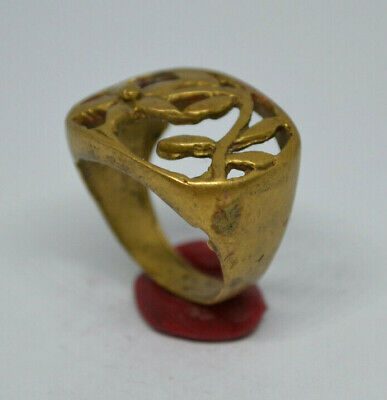 LOW OUTBID !! EXTREMELY Ancient VIKING BRONZE RING museum quality ARTIFACT