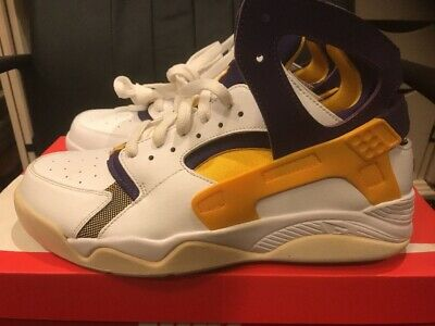 the latest e74dd 71901 Nike Air Flight Huarache Lakers Size 10 Brand New Ds 100% Authentic