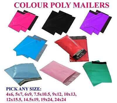 Any Size Colour Poly Mailers Bags Shipping Mailing Self Sealing Envelopes 2.5Mil