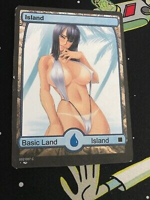 3x Altered Art Island: Sexy Anime Non Foil, Printed