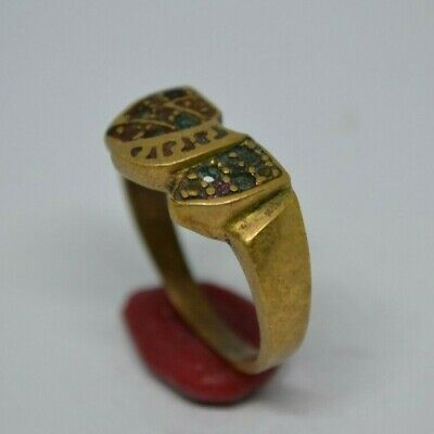 LOW OUTBID !! Rare Ancient Solid Ring Antique Roman REAL Bronze Stunning Artifac