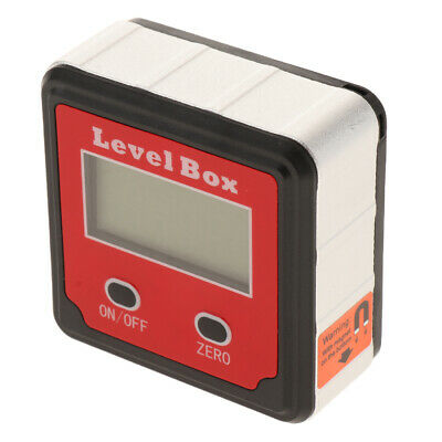 Digital LCD Level Box Protractor Angle Finder Level Gauge Magnetic Based,Red