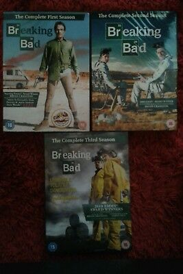 Breaking Bad Complete Series 1 - 3 Dvd Boxsets *** New & Sealed ***