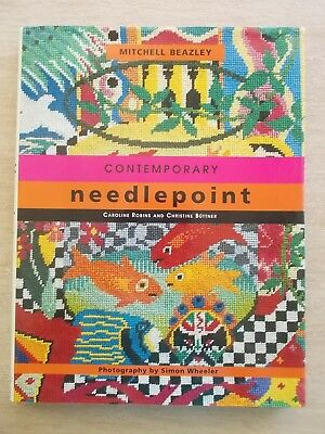 Contemporary Needlepoint~22 Projects~Patterns~144pp HBWC
