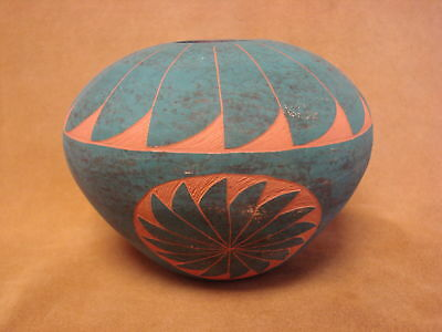 Native American Acoma Indian Pottery Hand Painted Pot by JS Lewis! PT0198