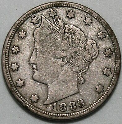 1883 | U.S.A. Liberty V Nickel 'Cents Below' | Cupro-Nickel | Coins | KM Coins
