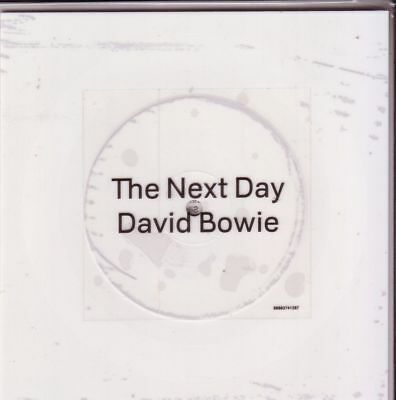 """DAVID BOWIE """"The Next Day""""  2 Track white VINYL 7 INCH Shape"""