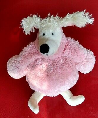 """Jellycat """"I am Poloneck Peeker Poodle"""" Pink Poodle with labels (J406)"""