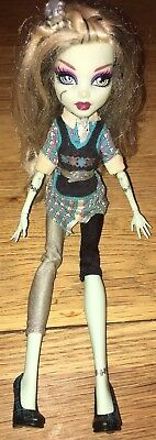 Monster High Doll FRANKIE STEIN  - Wave 2 In Original Shoes, Dress And Top