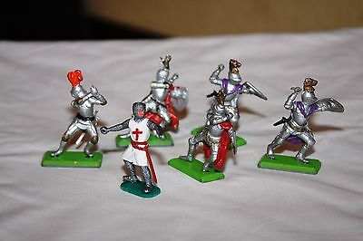 Deetail 1971 Figures  Battle Hardened Crusader/knights Foot Soldiers