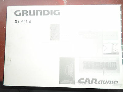 Grunndig MS411 A Radio CD Handbook/manual
