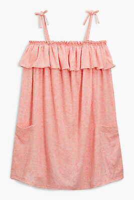 NEXT Girls Pink Jersey Strappy Dress Age 9 Years BNWT