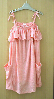 NEXT Girls Pink Jersey Strappy Dress Age 8 Years BNWT