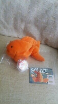Goldie the gold fish- Ty Beanie Babies. Mint With Mint Tags. Birthday: 14th Nov