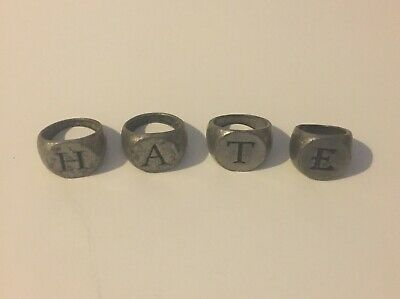 We Rob Banks H.A.T.E. Biker Rings - Free Postage