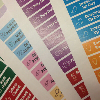 School Mum Stickers - Bumper Family Pack use with any calendar diary planner