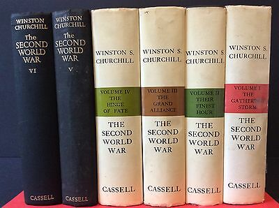 THE SECOND WORLD WAR, WINSTON S. CHURCHILL, VOL. SET, 6 Books, 1952-1965 1ST. ED