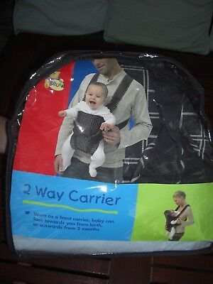 a0a72280169 Baby Carrier Bruin 2 Way Grey Black