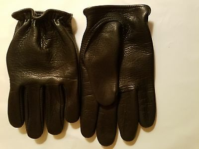 Churchill Classic Short Wrist American Bison Mens Motorcycle Gloves
