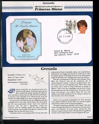 1997 - Grenada FDC - Famous People - Royalty - Tribute to Princess Diana [PB07_3
