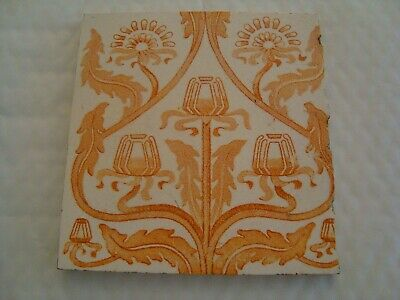 Antique Art Nouveau Stylised Tulip tile 20/49