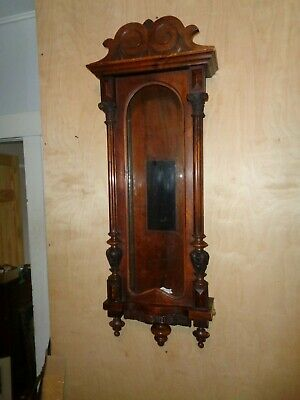 Antique-Walnut-Weight Vienna Regulator-Clock Case. Ca.1885-To Restore-#T337