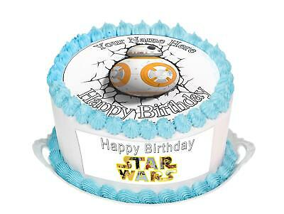 Phenomenal Cake Topper Birthday Star Wars Bb8 Personal Rice Paper Icing Funny Birthday Cards Online Bapapcheapnameinfo