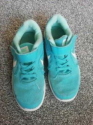NIKE Revolution 3 Girls Trainers, Turquoise - Size 11